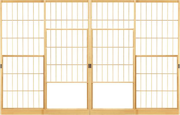立茂猫間障子(58・引違幅狭)